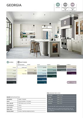 Shaker style kitchen door information sheet