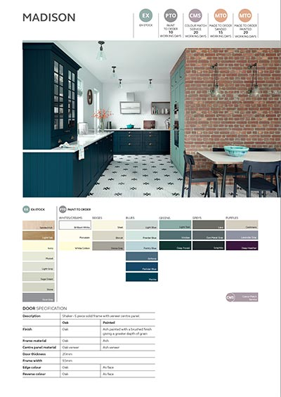 Madison shaker door info sheet thumbnail - marine blue and light teal