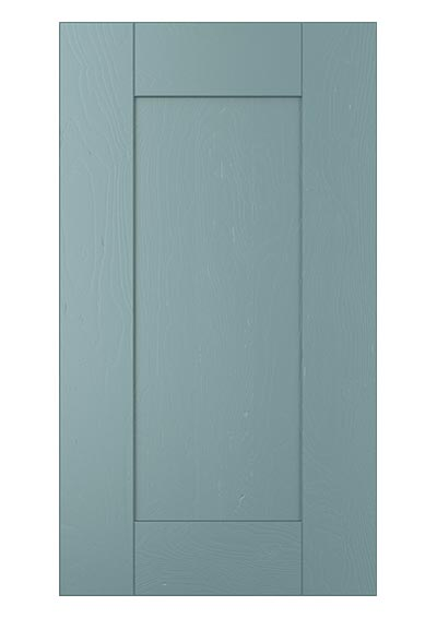 Madison shaker door painted light teal