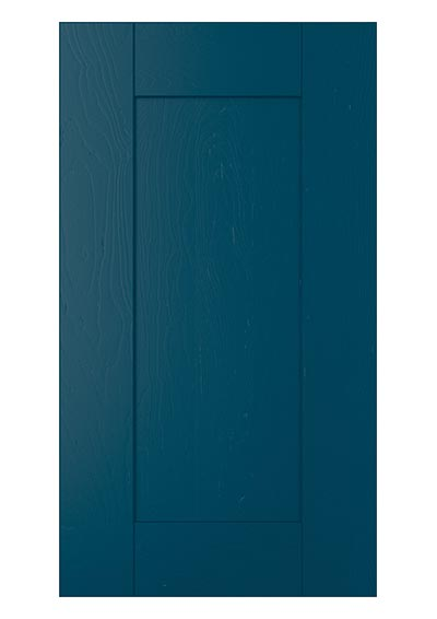 Madison shaker door painted marine blue