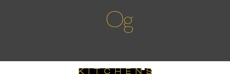 Oliver Green Kitchens logo slate and gold