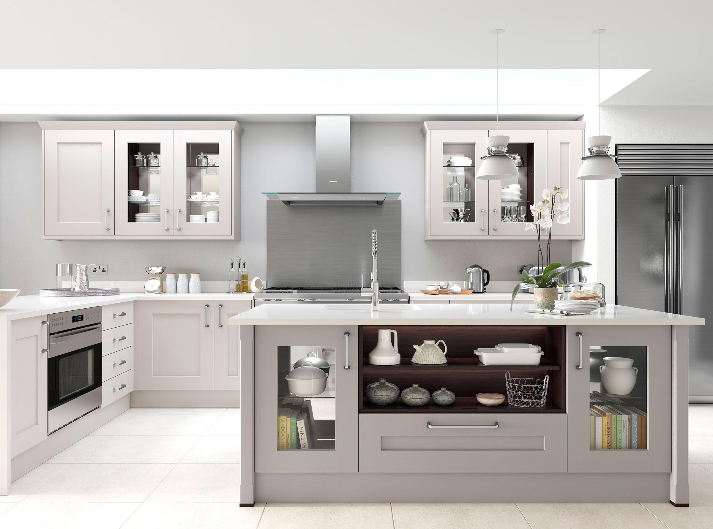 traditional contemporary shake style kitchen