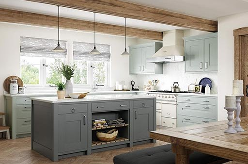 Traditional and contemporary style kitchens