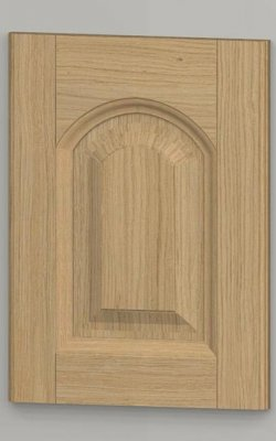 hp50 solid oak arched frame door with oak veneered centre panel - untreated k00