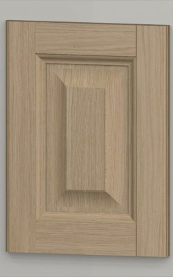 Oak framed oak veneered centre panel door - light oak k01