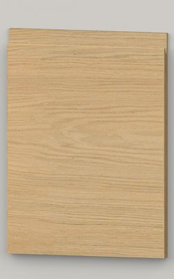 TP21SY horizontal oak veneered door with J pull handle - untreated k0