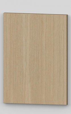 Oak vertical veneer flush door with osb core - light oak 01