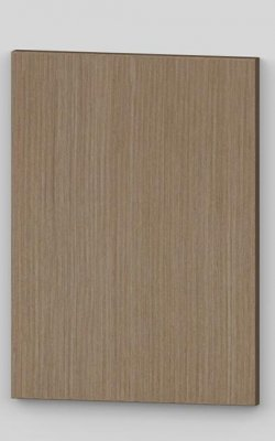 Flush door with technical veneer finish - wild brown