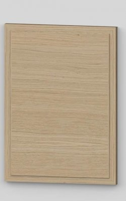 Raise panel vertical oak veneered door with wood edge - light oak k01