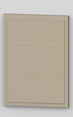 Horizontal birch veneered raised panel door - lacquered tb1
