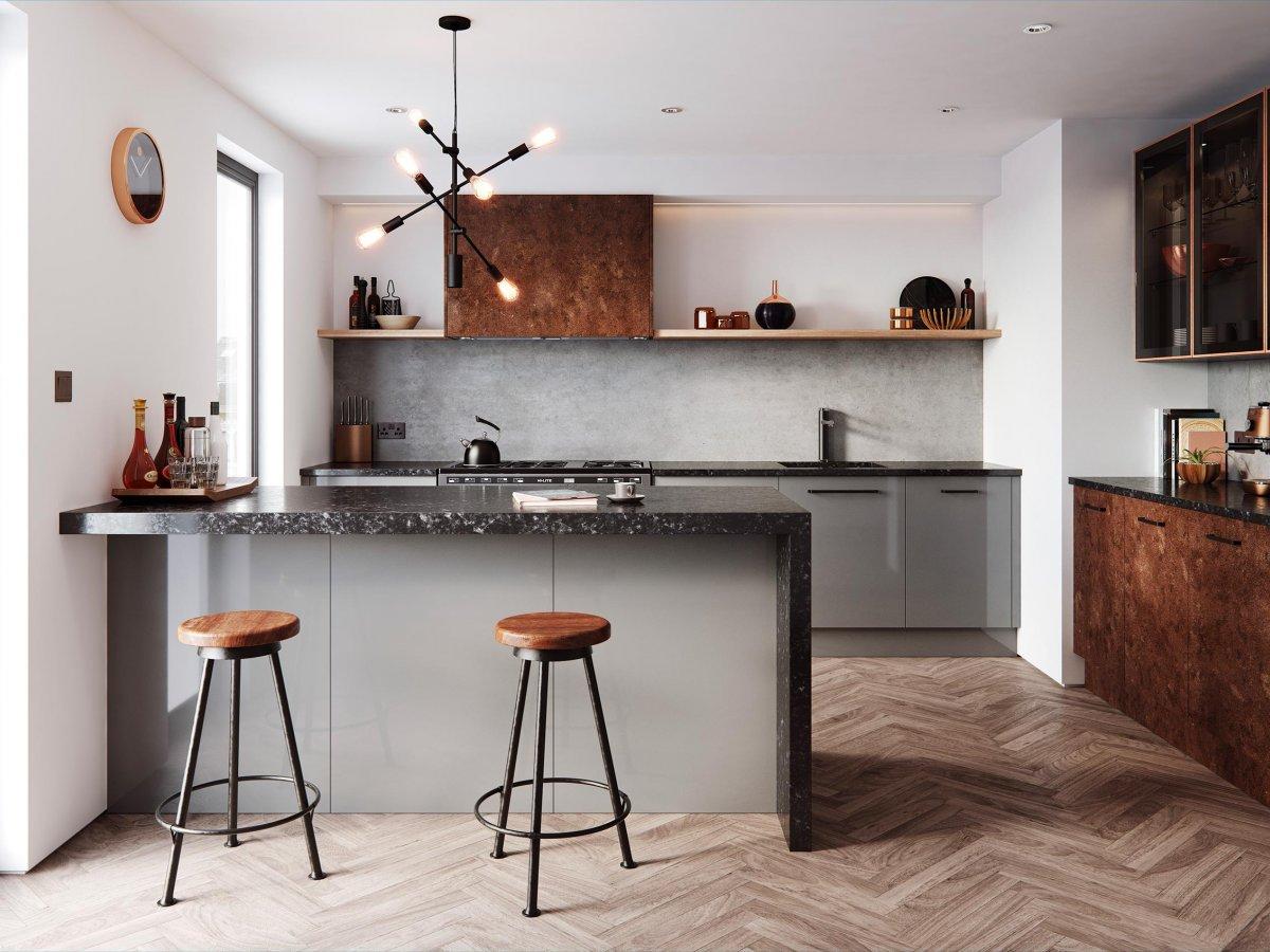 Industrial Influenced Modern Kitchen Og Kitchens