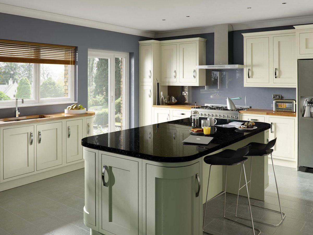 Bespoke Ivory Painted Inframe Shaker Kitchen Og Kitchens