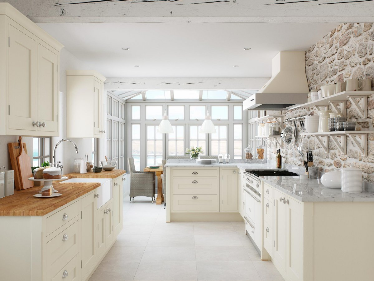 Inframe Ivory Painted Shaker Kitchen Og Kitchens