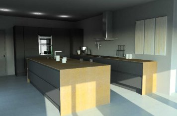 Modern handleless matte anthracite kitchen for Cheshire customer