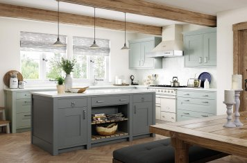 Contemporary in-frame shaker style kitchen main picture