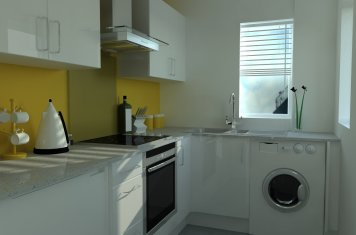 Small Gloss White Kitchen for East Wirral Customer