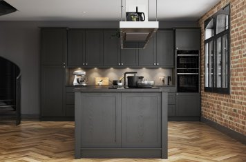 Contemporary Skinny Shaker Kitchen Painted Graphite Grey